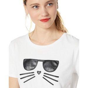 Karl Lagerfeld kitty T-shirt NWOT